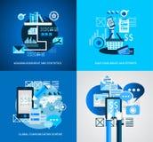 Les icônes plates d'Infographic UI de style à employer pour vos affaires projettent Photos stock