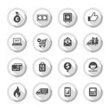 Les icônes plates de achat ont placé 01 Images libres de droits