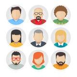 Les icônes plates de caractère d'avatar ont placé 1 Photo stock