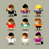 Les icônes plates de l'avatar APP de conception ont placé des femmes d'hommes de personnes d'utilisateur Conception d'illustratio Photos stock