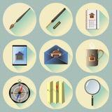 Les icônes plates de vecteur ont placé pour le Web et les applications mobiles photos stock