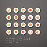 Les icônes plates ont placé 17 illustration de vecteur