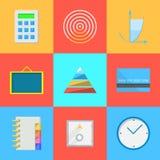 Les icônes plates pour externalisent le travail Photos libres de droits