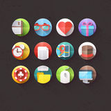 Les icônes plates pour le mobile et les applications Web ont placé 1 Images libres de droits