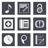 Les icônes pour le web design ont placé 36 Images stock