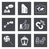 Les icônes pour le web design ont placé 35 Photo libre de droits
