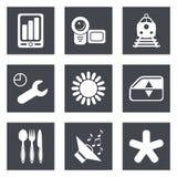 Les icônes pour le web design ont placé 50 Photographie stock