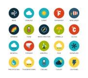 Les icônes rondes amincissent la conception plate, ligne moderne course Photographie stock libre de droits