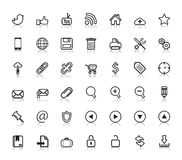 Icônes sociales de Web Images stock