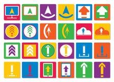 Les icônes téléchargent, téléchargent des dossiers dans un style plat Ensemble d'icônes colorées de vecteur pour le site Web ou l Images stock