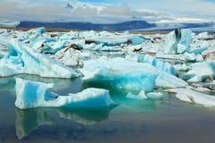 Les icebergs bleus et verts Images stock