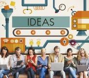 Les idées d'innovation imaginent le concept de système de traitement images stock