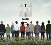 Les idées de foi imaginent le concept de confiance de mentalité d'inspiration photo libre de droits