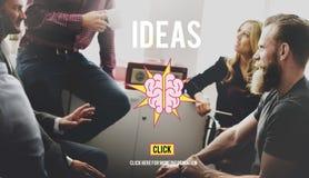 Les idées faisant un brainstorm l'innovation de vision pensent le grand concept Images libres de droits