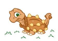 Les illustrations de bande dessinée d'Ankylosaurus de dinosaure ont isolé le caractère d'animal d'image Photo libre de droits