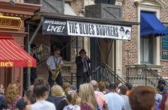 Les imitateurs de frères de bleus exécutent aux studios universels Orlando Fl Images stock
