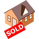 Les immeubles ont vendu le signe Image stock