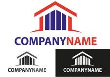 Les immeubles renferment le logo Images stock