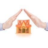 Les immobiliers, les prêts, l'assurance des biens et toutes les choses se sont rapportés images stock