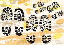 Les impressions de la chaussure Image libre de droits