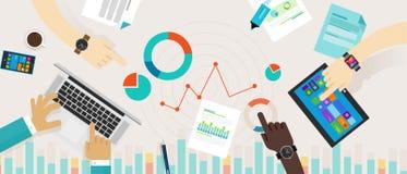 Les informations sur les données Infographic de diagramme de barre analogique Images stock