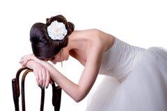Les inquiétudes de jeune mariée Photographie stock