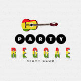 Les insignes et les labels de partie de reggae pour en emploient illustration libre de droits