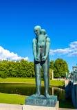 Les installations de sculpture en Vigeland dans Frogner garent - Oslo Images stock