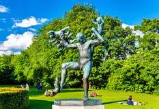Les installations de sculpture en Vigeland dans Frogner garent - Oslo Photographie stock libre de droits