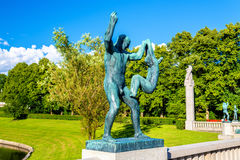 Les installations de sculpture en Vigeland dans Frogner garent - Oslo photo stock