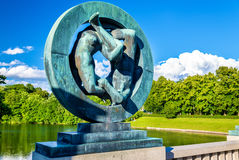 Les installations de sculpture en Vigeland dans Frogner garent - Oslo Photos libres de droits