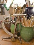 Les instruments de potiers Images libres de droits