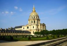 Les Invalides教会在巴黎 免版税库存照片