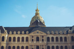 Les Invalides - прогулки города Парижа Франции путешествуют всход Стоковая Фотография RF