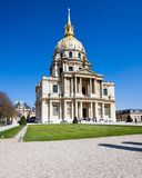 Les Invalides. In Paris, France with a a blue sky background Stock Photography