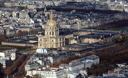 Les Invalides from above Stock Photos