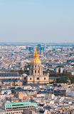 Les invalides - Aerial view of Paris. Stock Image