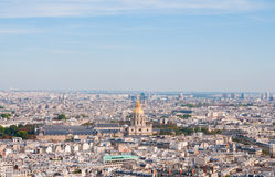 Les invalides - Aerial view of Paris. Stock Photos