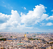 Les invalides - Aerial view of Paris. Royalty Free Stock Photos