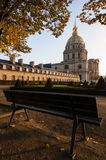 Les Invalides bench Stock Images