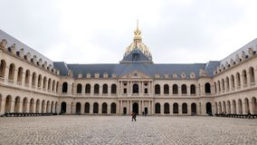 Les Invalides of Paris France. Les Invalides is building army museum and army medical treatment in Paris Stock Image