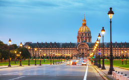 Les Invalides building in Paris Stock Photo