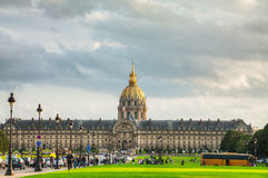 Les Invalides building in Paris Royalty Free Stock Photos