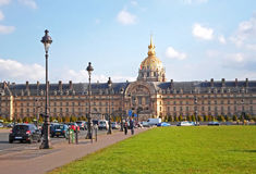 Les Invalides, commonly known as Hotel national des Invalides Stock Photos