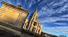 Les Invalides at dawn Royalty Free Stock Photography