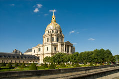 Les Invalides (de Nationale Woonplaats van Invali Royalty-vrije Stock Foto's