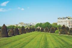 Les Invalides - den Paris Frankrike staden går loppforsen Arkivbilder