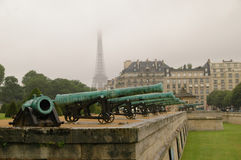 Les Invalides and Eiffel Tower Royalty Free Stock Image