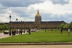 Les Invalides en París, Francia Foto de archivo libre de regalías