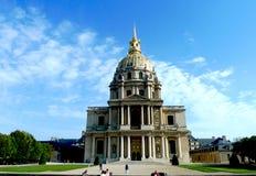 Les Invalides en París, DES Invalides del Saint Louis de la capilla Imagen de archivo
